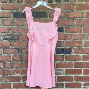 Sheik pink ruffle dress with tie back!